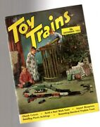 Old Toy Trains Magazine Christmas 1953,layouts,lionel,ives,winter