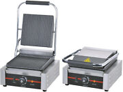 1.8kw Single Commercial Panini Machine Contact Grill Toaster Sandwich Maker