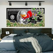 Money Canvas Prints Gold Modern Canvas Painting Dollar Picture Style Street Art