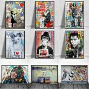 Art Canvas Posters And Prints Graffiti Street Art Wall Pictures Modern Home Room