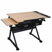 6 Levels Of Height Ez Set Adjustable Drafting Table W/ Stool 9 Levels Of Angle