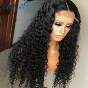 Deep Wave Closure Wig Human Hair Lace Frontal Wigs 180 Lace Front Wig Pre Plucke