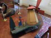 Incredible Butter Churning Windmill Whirly Gig Whirligig W/ Original Paint