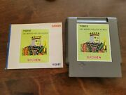 Sachen Tc012 The World Of Card Games Nintendo Nes Game W/ Manual Tested Rare