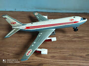 Rare Old Twa Airlines Battery Powered Tin Toy Airplane Of 60's Made In Japan.