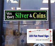 We Buy Silver And Coins Led Window Sign 48x12 Free Shipping
