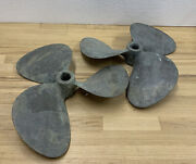 Michigan Dyna-jet Props Pair Bore Cupped Searay Used Restore Or Decor Cool Seeandnbsp