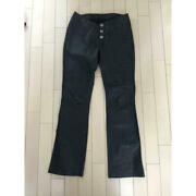 Chrome Hearts Authentic Leather Pants Inseam About 73 Cm Women