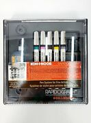 Koh-i-noor Rapidograph Pen System For Fine Artists - Includes 5/7 Pens - Used