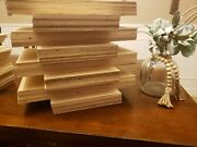 Ready To Laser Cut Project Boards 1/4 8nch Maple Plywood. Pack Of 10 11.5x19.5