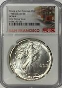 1986 S Ngc Ms69 1 Silver Eagle First Year Issue Struck At San Francisco Trl L
