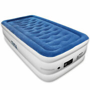 Tiita Twin Durable Air Mattress Built-in Quick Pump With Storage Bag 20 In