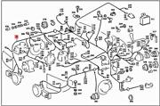 Genuine Mercedes Sl R107 Cable Harness A1075400405