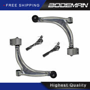 4pc Front Lower Control Arm Outer Tie Rod For 04-12 Chevy Malibu Pontiac G6 Aura