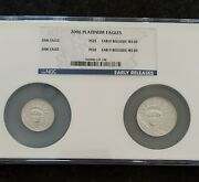 2006 American Platinum Eagle 2 Coin Set -ms69 - Early Releases 0.75oz