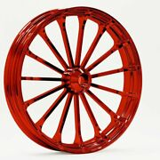 21 X 3.5 Talon Wheel And 120/70-21 Front Tire - Red - 2000-2020 Harley Touring