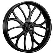 21 X 3.5andrdquo Front Electron Black Front Wheel Rotors And Tire - Harley Touring Bagger