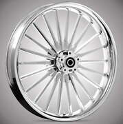 Pulse Chrome 21x 3.5andrdquo Front And Rear Wheels - 2000-2020 Harley Touring Bagger