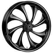 21 X 3.5andrdquo Front Twisted Black Cut Front Wheel Rotors Tire 2000-up Harley Touring
