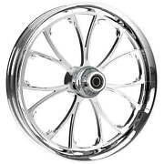 """21 X 3.5"""" Front Arc Chrome Front Wheel Rotors Tire 2000-up Harley Touring"""