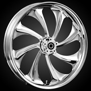 21 X 3.5andrdquo Front Twisted Chrome Front Wheel Rotors Tire 2000-up Harley Touring