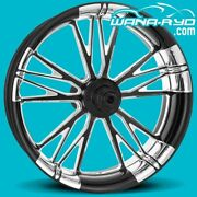 Execute Contrast Cut Platinum 21 X 3.5 Front Wheel 08-20 Harley Touring Bagger