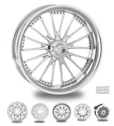 Domino Polish 18 Fat Front And Rear Wheels, Tires Package Dual Rotors 2008 Bagger