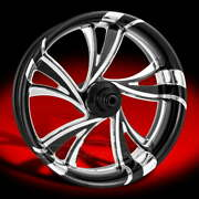 Cruise Contrast Cut Platinum 21 X 3.5 Front Wheel 08-20 Harley Touring Bagger