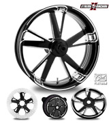 Charger Contrast Cut Platinum 18 Fat Front And Rear Wheel Only 09-19 Bagger