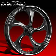 Ryd Wheels Rollin Starkline 23 Fat Front And Rear Wheels Only 00-07 Bagger