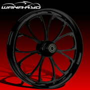 Ryd Wheels Arc Blackline 23 Fat Front And Rear Wheels Tires Package 00-07 Bagger