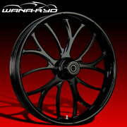 Ryd Wheels Electron Blackline 23 Fat Front Wheel And Tire Package 08-19 Bagger