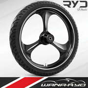 """Ryd Wheels Amp Starkline 23 X 5.0"""" Fat Front Wheel And Tire Package 00-07 Bagger"""