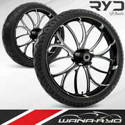 Electron Starkline 21 Fat Front And Rear Wheels Tires Package 00-07 Bagger