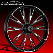 """Resistor Starkline 23 X 5.0"""" Fat Front Wheel And Tire Package 00-07 Bagger"""