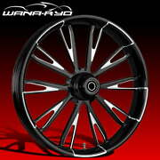 Ryd Wheels Resistor Starkline 23 Fat Front Wheel And Tire Package 08-19 Bagger
