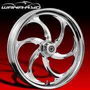 Ryd Wheels Reactor Chrome 21 Fat Front And Rear Wheels Tires Package 2008 Bagger