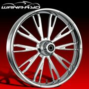 Ryd Wheels Resistor Chrome 23 Fat Front Wheel And Tire Package 08-19 Bagger