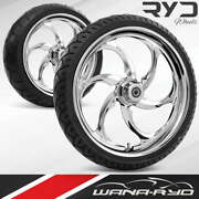 Rea235183frwtdd07bag Reactor Chrome 23 Fat Front And Rear Wheels Tires Package D