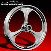 Ryd Wheels Amp Chrome 18 Fat Front And Rear Wheels Only 00-07 Bagger