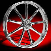 Ryd Wheels Ion Chrome 23 Fat Front And Rear Wheels Tires Package 2008 Bagger
