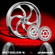 Reactor Chrome Wheels Tires Rotors Pulley 2002-08 Harley V-rod 200 Tire