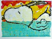 Tom Everhart Bora Boogie Oogie Snoopy Peanuts Main Signandeacutee Lithographie