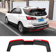 For Chevrolet Equinox 2018-2021 Red + Carbon Fiber Rear Trunk Spoiler Wing Flap