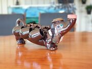 Dachshund Dog Decanter 6 Cups Made In Japan 50's 60's Retro Shabby Brown Dog