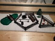 Vintage Plasticville O Scale Pond With Bridge And Accessories Ho145120