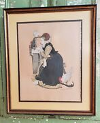 Vintage Original Signed Norman Rockwell Summer Stock Lithograph 83/200