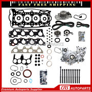 Full Gasket Set Bolts Timing Belt Water Oil Pump For 98-02 Accord Cl Oasis 2.3l