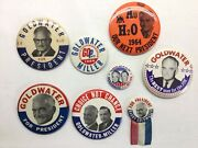 1964 Barry Goldwater - Goldwater Miller Campaign Button Lot