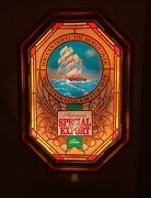 1982 Heilemanand039s Special Export Beer Sailing Ship Lighted Sign With Ocean Motion